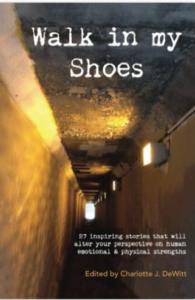 """fot af forside af bog """"Walk in My Shoes"""""""