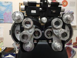 Udstyr hos øjenlæge
